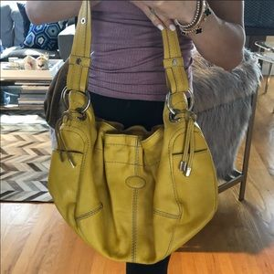 Mustard yellow tods tote